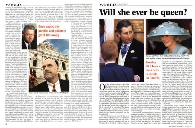 Article Preview: Will she ever be queen?, November 1998 | Maclean's