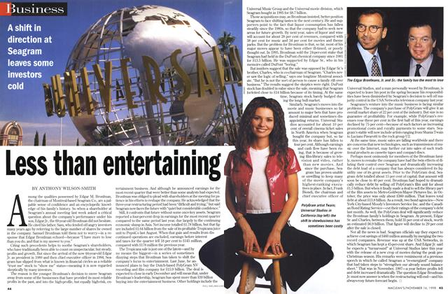 Article Preview: Less than entertaining, November 1998 | Maclean's