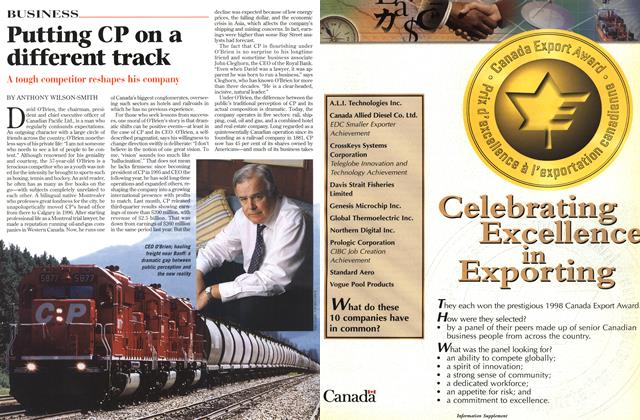 Article Preview: Putting CP on a different track, November 1998 | Maclean's