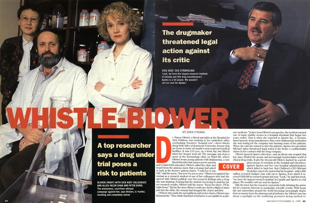 Article Preview: WHISTLE-BL OWER, November 1998 | Maclean's