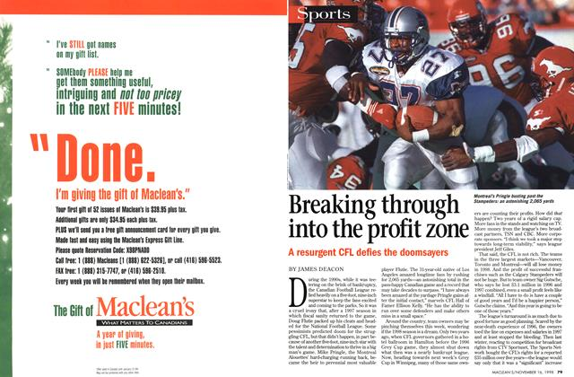 Article Preview: Breaking through into the profit zone, November 1998 | Maclean's