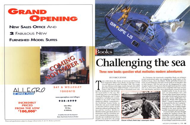 Article Preview: Challenging the sea, November 1998 | Maclean's
