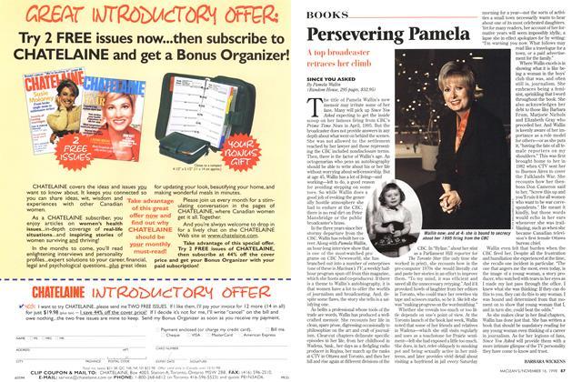 Article Preview: Persevering Pamela, November 1998 | Maclean's