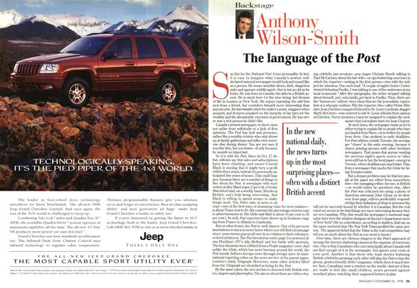 Article Preview: The language of the Post, November 1998 | Maclean's