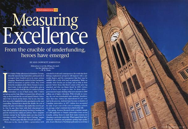 Article Preview: Measuring Excellence, November 1998 | Maclean's