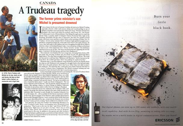 Article Preview: A Trudeau tragedy, November 1998 | Maclean's