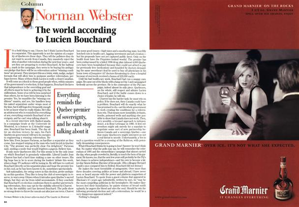 Article Preview: The world according to Lucien Bouchard, November 1998 | Maclean's