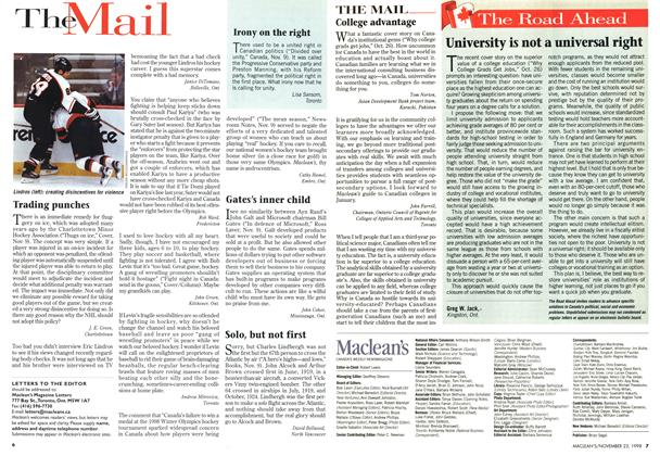 Article Preview: The Mail, November 1998 | Maclean's