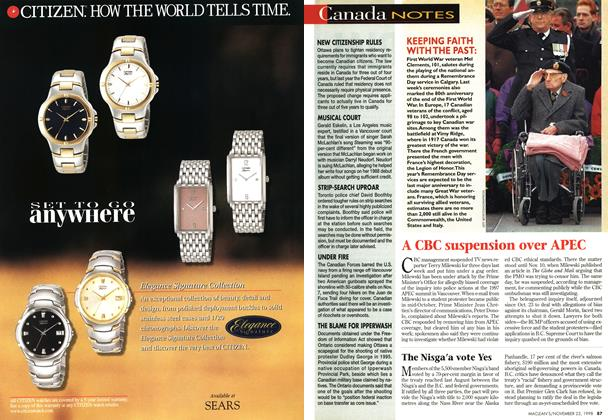 Article Preview: Canada NOTES, November 1998 | Maclean's