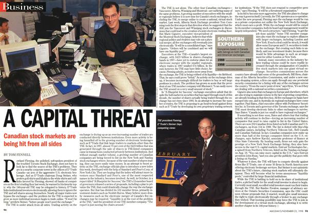 Article Preview: A CAPITAL THREAT, November 1998 | Maclean's