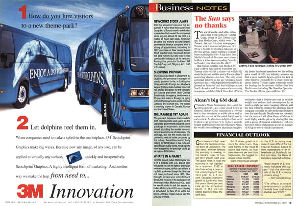Article Preview: Business NOTES, November 1998 | Maclean's