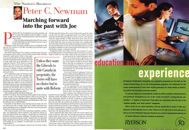 Article Preview: Marching forward into the past with Joe, November 1998 | Maclean's