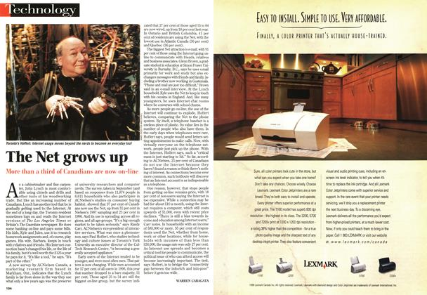 Article Preview: The Net grows up, November 1998 | Maclean's