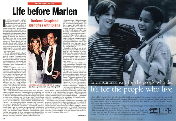 Article Preview: Life before Marlen, November 1998 | Maclean's