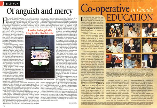 Article Preview: Of anguish and mercy, November 1998 | Maclean's