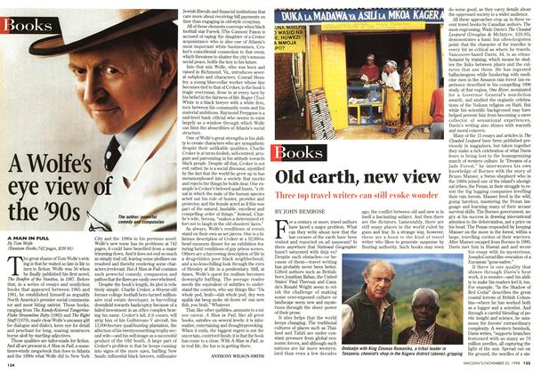 Article Preview: Old earth, new view, November 1998 | Maclean's