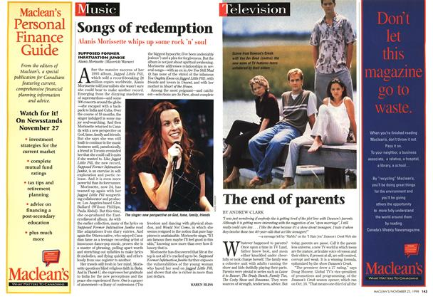 Article Preview: Songs of redemption, November 1998 | Maclean's