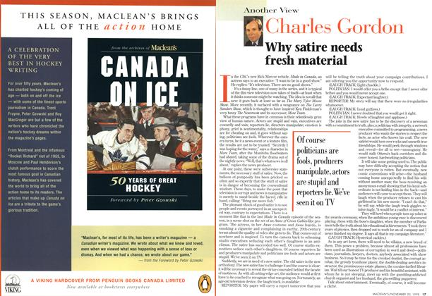 Article Preview: Why satire needs fresh material, November 1998 | Maclean's