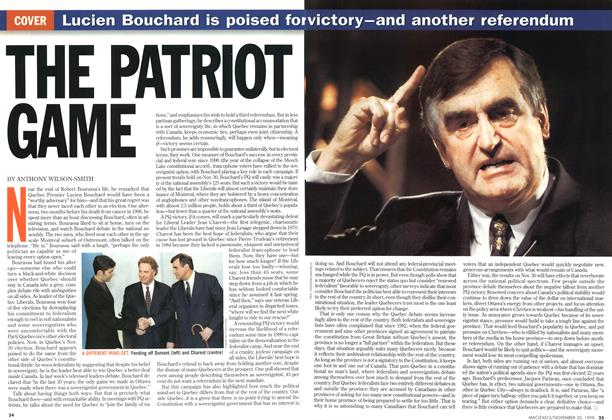 Article Preview: THE PATRIOT GAME, November 1998 | Maclean's