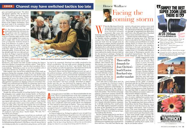 Article Preview: Facing the coming storm, November 1998 | Maclean's