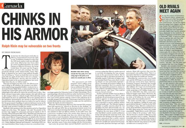 Article Preview: CHINKS IN HIS ARMOR, November 1998 | Maclean's