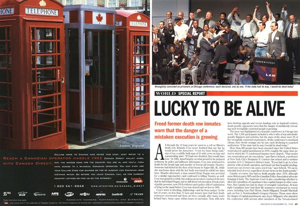 Article Preview: LUCKY TO BE ALIVE, November 1998 | Maclean's