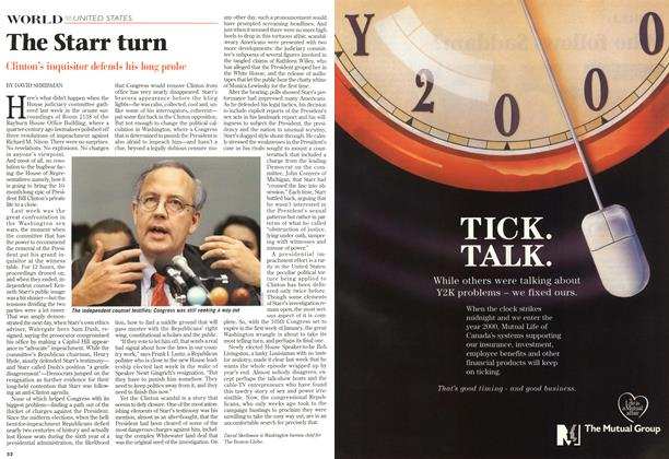 Article Preview: The Starr turn, November 1998 | Maclean's