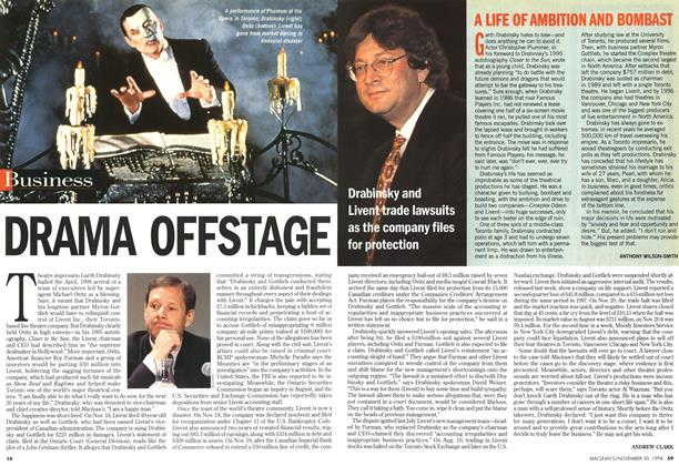 Article Preview: DRAMA OFFSTAGE, November 1998 | Maclean's