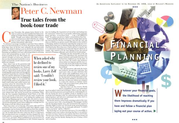 Article Preview: True tales from the book-tour trade, November 1998 | Maclean's
