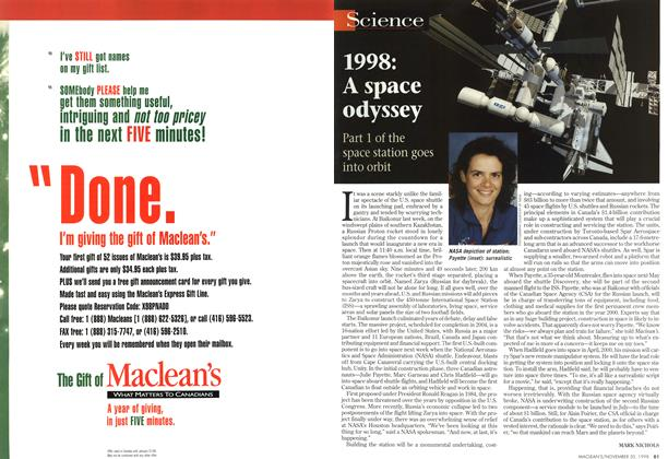Article Preview: 1998:A space odyssey, November 1998 | Maclean's