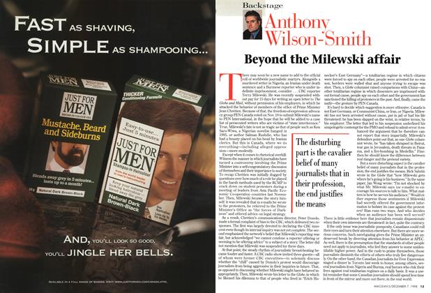 Article Preview: Beyond the Milewski affair, December 1998 | Maclean's