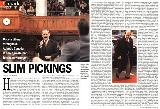 Article Preview: SLIM PICKINGS, December 1998 | Maclean's