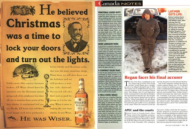 Article Preview: Canada NOTES, December 1998   Maclean's