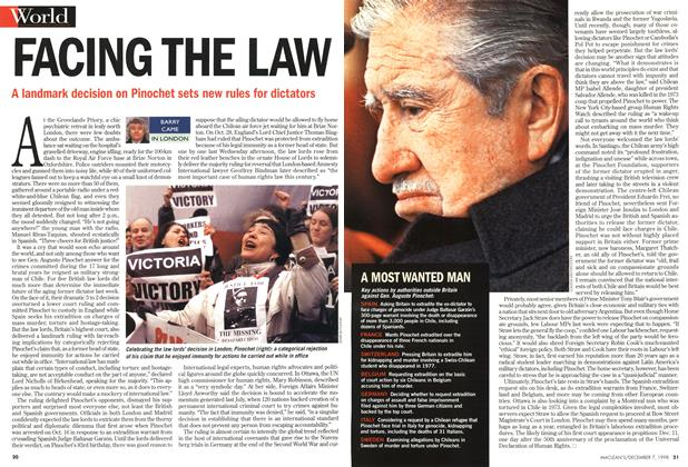 Article Preview: FACING THE LAW, December 1998 | Maclean's