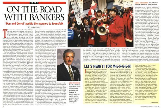 Article Preview: ON THE ROAD WITH BANKERS, December 1998 | Maclean's