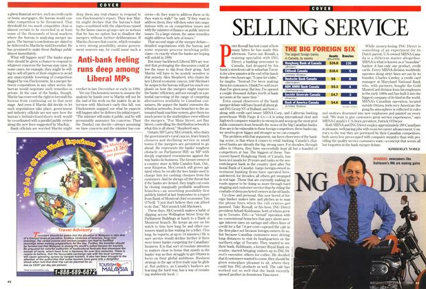 Article Preview: SELLING SERVICE, December 1998 | Maclean's