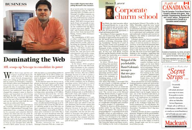 Article Preview: Dominating the Web, December 1998 | Maclean's
