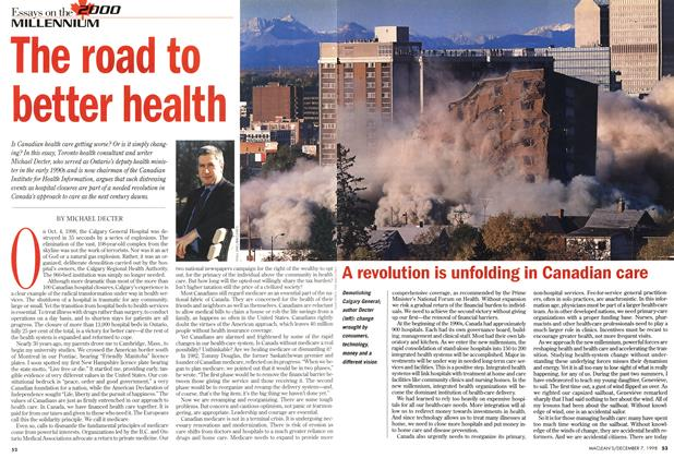 Article Preview: The road to better health, December 1998 | Maclean's
