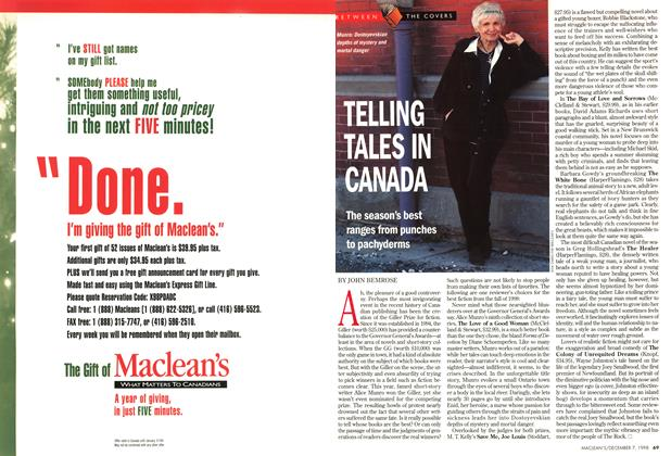 Article Preview: TELLING TALES IN CANADA, December 1998 | Maclean's