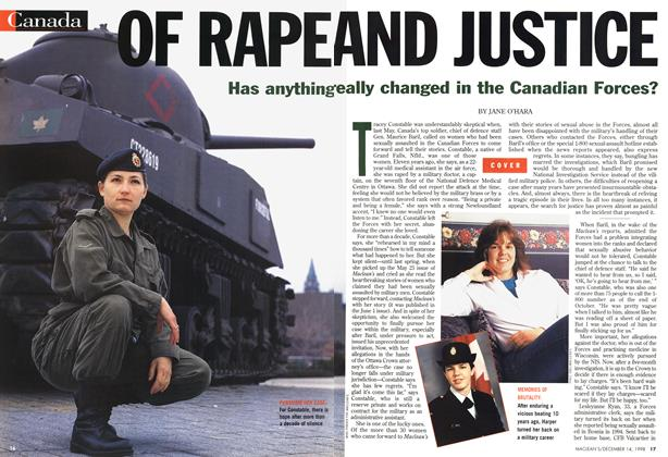 Article Preview: OF RAPE AND JUSTICE, DECEMBER 14 1998 | Maclean's