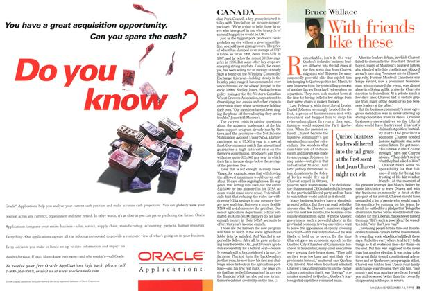 Article Preview: With friends like these, DECEMBER 14 1998   Maclean's