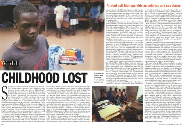 Article Preview: CHILDHOOD LOST, DECEMBER 14 1998 | Maclean's