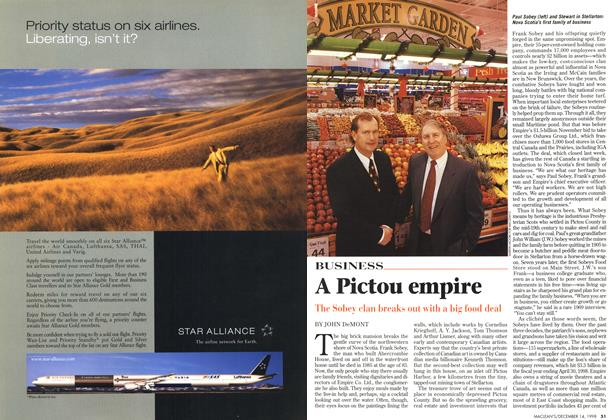 Article Preview: A Pictou empire, DECEMBER 14 1998 | Maclean's