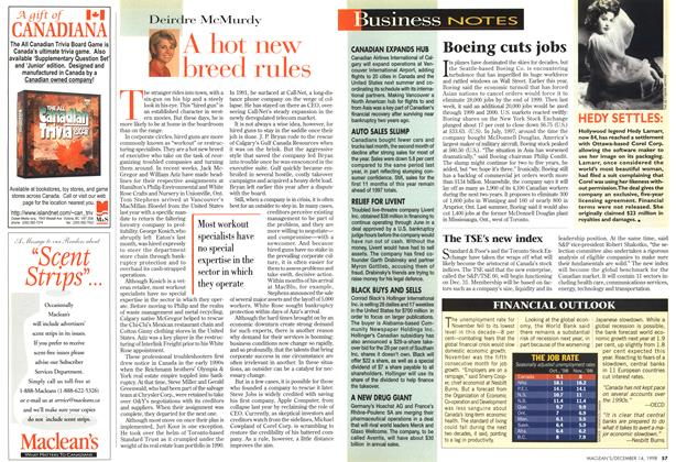 Article Preview: A hot new breed rules, DECEMBER 14 1998 | Maclean's
