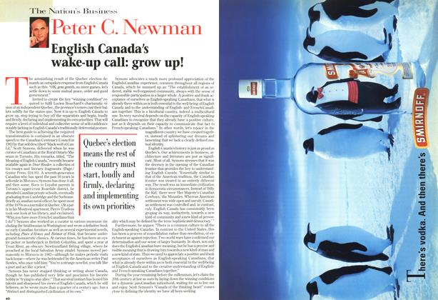 Article Preview: English Canada's wake-up call: grow up!, DECEMBER 14 1998 | Maclean's