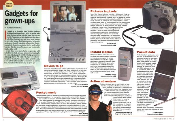 Article Preview: Gadgets for grown-ups, DECEMBER 14 1998 | Maclean's