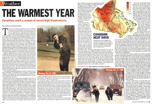 Article Preview: THE WARMEST YEAR, DECEMBER 14 1998 | Maclean's