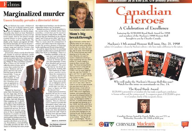 Article Preview: Marginalized murder, DECEMBER 14 1998 | Maclean's