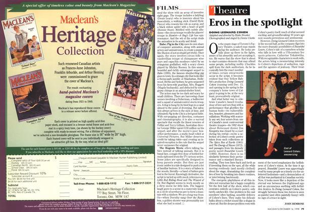 Article Preview: Eros in the spotlight, DECEMBER 14 1998 | Maclean's