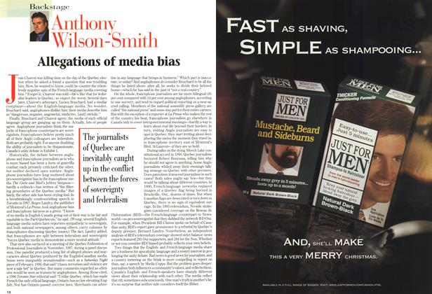 Article Preview: Allegations of media bias, December 1998 | Maclean's